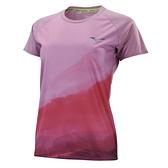MIZUNO 女裝 短袖 T恤 慢跑 吸汗速乾 反光 聚酯纖維 粉【運動世界】J2TA170366