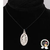 觀音菩薩(999銀)墜飾2.2公分+黑繩項鍊【十方佛教文物】