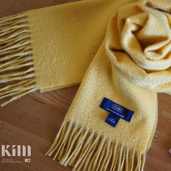 可傑 KIM Taiwan 溫和暖暖.黃『GOBI 100% 喀什米爾圍巾』 原價3500 限時85折 $2975