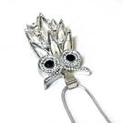 閃閃發光羽毛水鑽貓頭鷹長項鍊