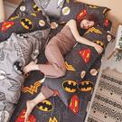 床包兩用被組 / 雙人加大【正義聯盟】含兩件枕套 100%精梳棉 戀家小舖台灣製AAS315