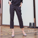 獨特開叉九分格子耐米褲 -2色(M-XL) ~funsgirl芳子時尚