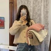 秋季復古寬鬆毛衣外套女裝秋裝2021年韓版百搭薄款針織開衫上衣女寶貝計畫