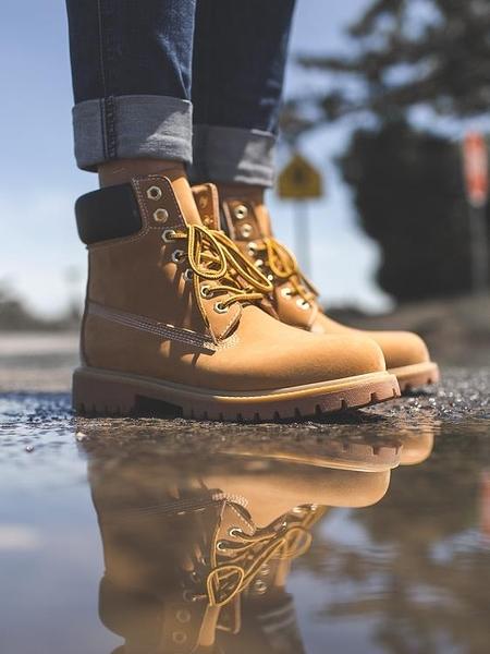 雪地靴 大黃靴男冬季加絨高幫馬丁靴英倫中幫工裝鞋雪地靴子沙漠靴踢不爛【快速出貨八折下殺】