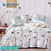 【BELLE VIE】40支純天絲雙人特大床包兩用被四件組-科拉