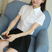 夏韓范白襯衫女短袖職業正裝大碼半袖修身襯衣女裝ol GB4709『樂愛居家館』