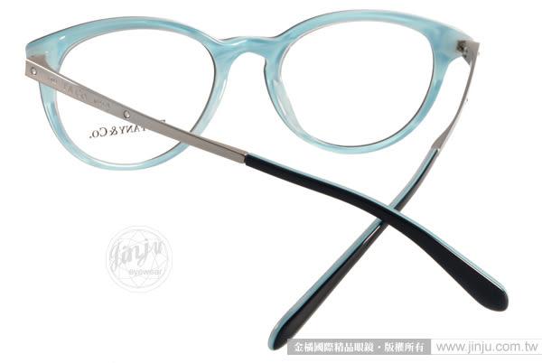 Tiffany&CO.光學眼鏡 TF2128B 8193 (黑-銀) 頂級時尚別緻小貓眼款 # 金橘眼鏡
