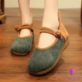 民族風女鞋 北京老布鞋 復古淺口單鞋 透氣古風漢服鞋夏