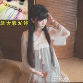 漢服女裝古風齊胸襦裙漢元素連身裙 E家人