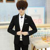 西裝服  休閒西服青年韓版修身春薄款小西裝潮流學生單西上衣外套   ciyo黛雅