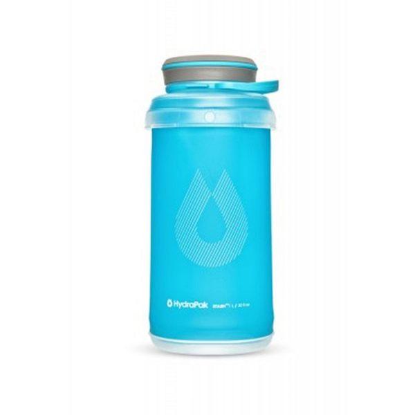 HydraPak Stash Bottle 可擠壓式圓盤軟式水壺 1L 藍 HPG121