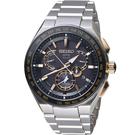 SEIKO精工 ASTRON GPS雙時區鈦金屬錶款 8X53-0AV0KS SBXB125J