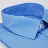 【金‧安德森】藍色短袖襯衫