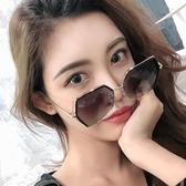 網紅墨鏡女韓版潮防紫外線2019新款ins眼鏡大框圓臉太陽鏡女