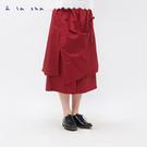 a la sha+a 造型綁帶假兩件式褲裙