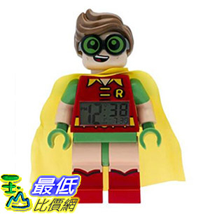 [8美國直購] 鬧鐘 LEGO 9009358 Batman Movie Robin Minifigure Light Up Alarm Clock