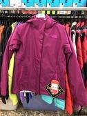 【亞版,M號,零碼特價6折】The North Face【美國】女GTX防水透氣 羽絨兩件式外套 紫紅 1BDV