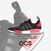 adidas 休閒鞋 NMD_R1 W 黑 紅 女鞋 boost 襪套式 運動鞋 【ACS】 EH0206