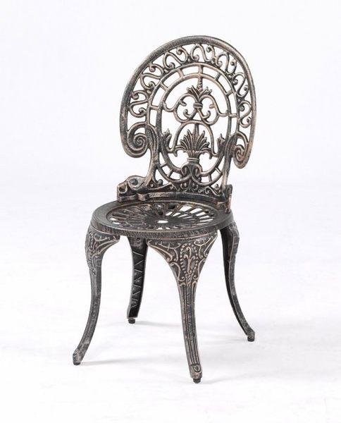 【南洋風休閒傢俱】戶外休閒桌椅系列- 孔雀椅  鋁合金戶外休閒椅  戶外鑄鋁餐椅 (#023C)