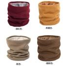 素色保暖加絨針織圍脖 MH2401 脖套 套脖 圍巾