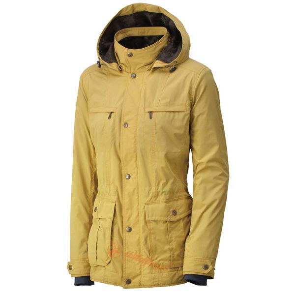Wildland 荒野 0A32907-33駱黃色 女 絲絨時尚防風保暖外套