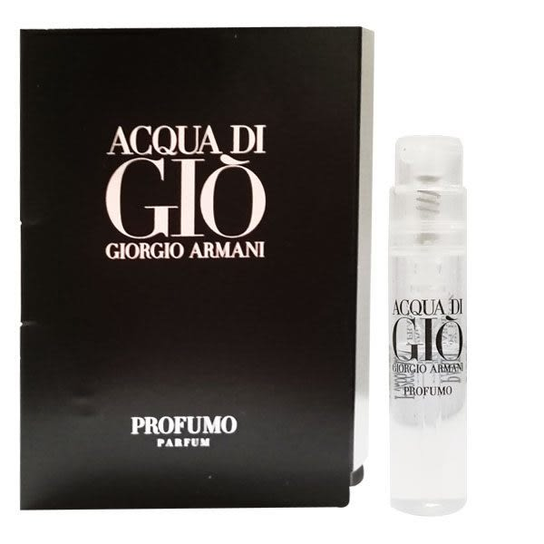 GIORGIO ARMANI 亞曼尼 黑夜寄情水男性淡香精 1.2ml 針管《Belle倍莉小舖》62442