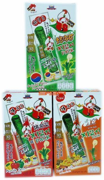 【吉嘉食品】kabuki烤海苔捲(魷魚) 1盒12條,泰國進口[#12]8855444005355