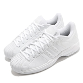 adidas 籃球鞋 Pro Model 2G Low 白 全白 男鞋 貝殼頭 皮革 復刻【ACS】 FX7099