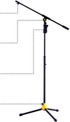 【金聲樂器廣場】全新 HERCULES MS632B 專業級三叉腳麥克風直架 附斜架大旋鈕