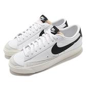 Nike 休閒鞋 Blazer Low 77 白 黑 女鞋 黑標 復古奶油色中底 運動鞋 皮革 【ACS】 DC4769-102
