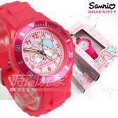 SANRIO三麗鷗 Little Twin Stars雙星仙子 雙子星 日本機芯 童趣卡通手錶 兒童錶 桃紅 S7-1026T