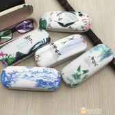 一件85折-復古中國風眼鏡盒眼鏡老花鏡眼鏡盒個性創意男女學生眼睛配件