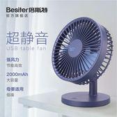 風扇  usb小電風扇可充電迷你隨身超靜音學生宿舍辦公室桌面台式【韓國時尚週】