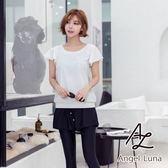 比基尼泳裝-日本品牌AngelLuna 現貨 黑白運動背心四件式比基尼溫泉沙灘泳衣