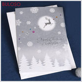 《不囉唆》銀妝貼件聖誕卡 賀卡/卡片/節日/祝福(不挑色/款)【A427818】