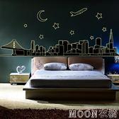 夜光貼 夜光貼紙個性創意兒童房臥室床頭可移除貼畫永久寢室裝飾夜光墻貼 京都3C