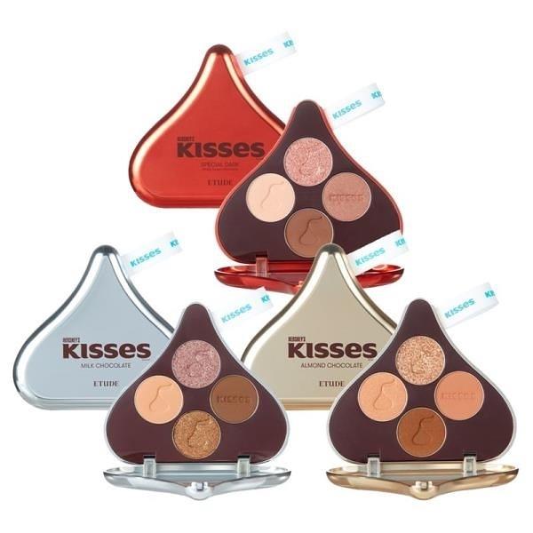 【南紡購物中心】ETUDE x HERSHEY S KISSES 玩轉色彩四色眼彩盤 (三色可選)