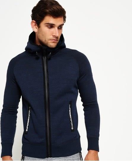 美國代購 Superdry 極度乾燥 Gym Tech Ziphood 靛藍 拉鍊帽外套 (XS~XXXL)
