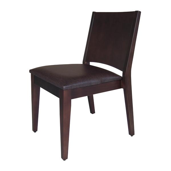 【采桔家居】米坦亞 時尚實木皮革北歐風餐椅(三色可選)