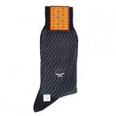 MCM 斜條紋保暖紳士棉長襪(灰藍色)980285