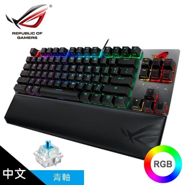 【ASUS 華碩】ROG Strix Scope TKL Deluxe RGB 機械式電競鍵盤 (中文/青軸)