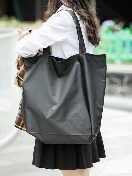 家用日式尼龍手提袋 大號單肩購物袋環保布袋子可折疊便攜買菜包j