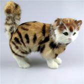貓咪 仿真 毛絨 擺件玩具寵物玩偶辦公桌面家居擺設仿真貓毛絨