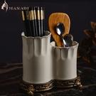 陶瓷筷子筒筷子籠瀝干防霉家庭筷子架廚房簡約創意家居瀝水歐式【全館免運】