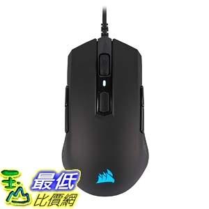[9美國直購] 滑鼠 CORSAIR M55 RGB Pro Wired Ambidextrous Multi-Grip Gaming Mouse - 12,400 DPI Adjustable Sensor