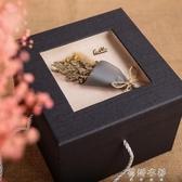 大號正方形禮品盒精美生日禮物盒情人節禮盒幹花簡約創意包裝盒子YYP 歐韓流行館