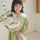 女童洋裝啦啦羊季女童洋裝裝新款洋氣時髦長袖A字裙寶寶兒童童裝