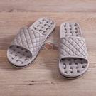 EVA經典排水浴室拖鞋-淺灰-生活工場
