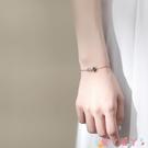 手鍊 925純銀藍色星球手鍊女韓版小眾設計簡約個性學生閨蜜禮物銀飾 愛丫 免運