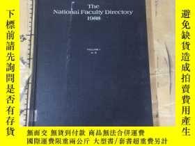 二手書博民逛書店The罕見National Faculty Directory1